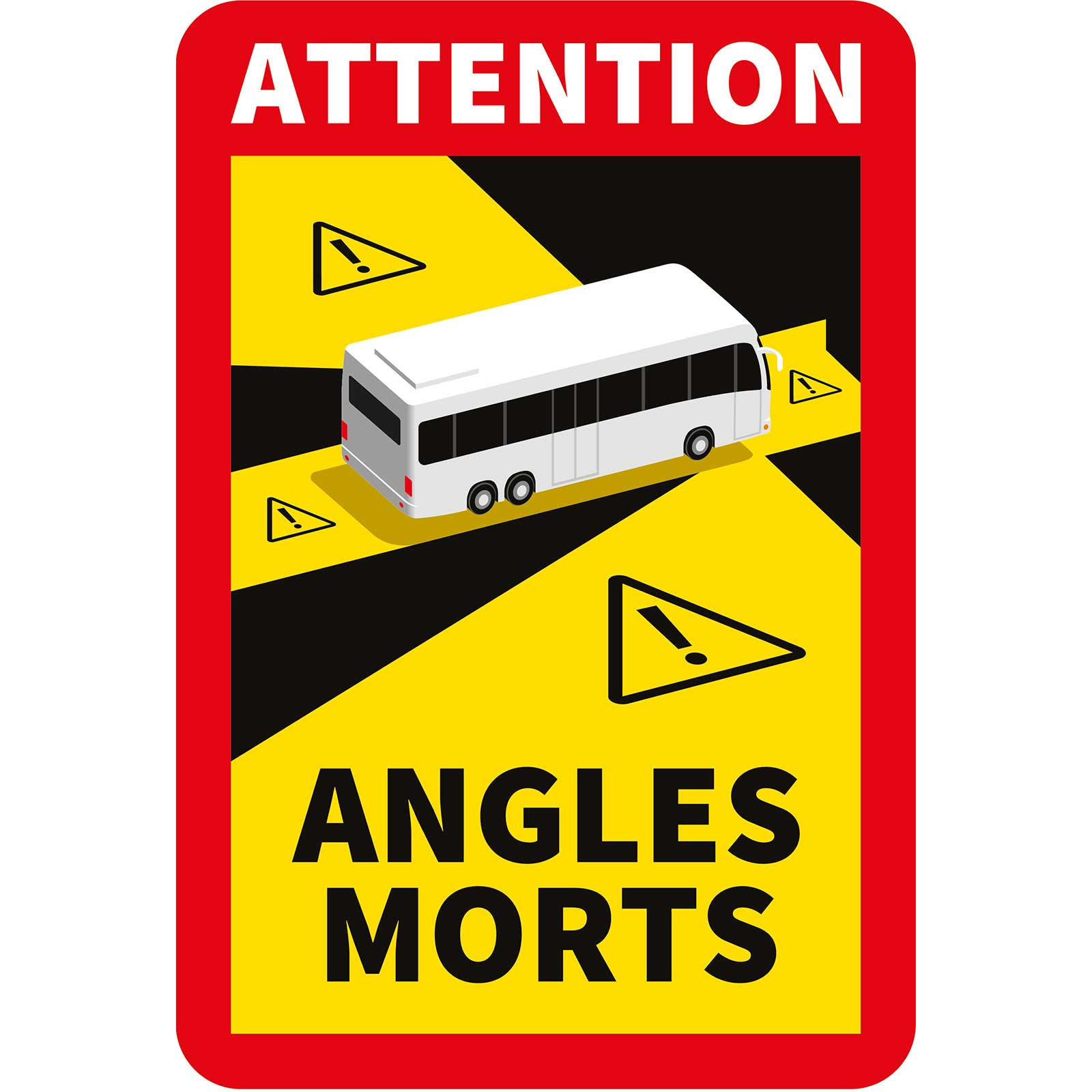 Stickers angles morts pour autocars