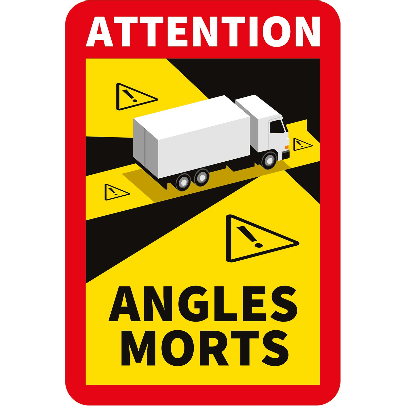 Stickers angles morts pour camion